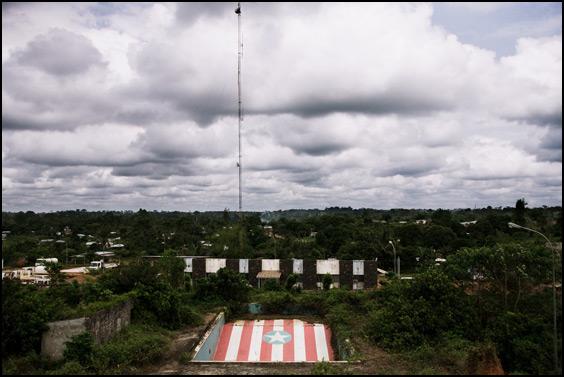 la piscine de la maison de Samuel Doe a Zwedru, Liberia