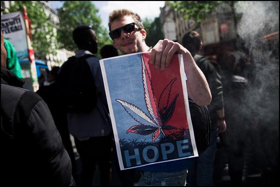 marche mondiale du cannabis 2012 Paris